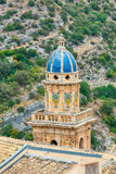 Stad för århundrade för torn för kyrklig klocka 18th av Ragusa Ibla i Sicilien i Italien Royaltyfri Fotografi