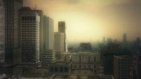 stad för antenn 3d royaltyfri illustrationer