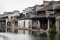 Stad för Nanxun områdesvatten Arkivbild