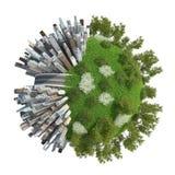 Stad för planet 3D Arkivfoton