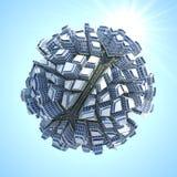 Stad för planet 3D Royaltyfria Bilder
