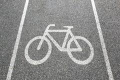 Stad för trafik för väg för cykel för cirkulering för väg för cykelgrändbana arkivfoton