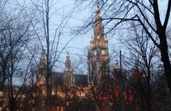 Stad för Wien Europa julferie Royaltyfri Bild