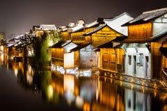 Stad för Wuzhen områdesvatten Royaltyfri Foto