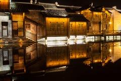Stad för Wuzhen områdesvatten Royaltyfri Bild