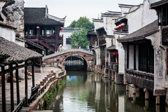 Stad för Wuzhen områdesvatten Royaltyfria Foton