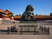 stad förbjuden lion Royaltyfri Fotografi