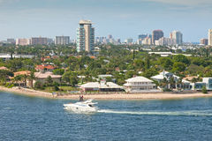 stad florida Fort Lauderdale Arkivbild