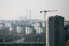 Stad från hög poäng Arkivbild