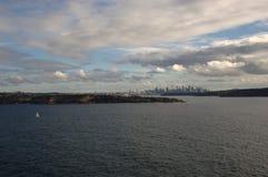 Stad från havet Arkivbilder