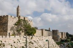 stad gammala jerusalem Arkivbilder