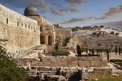 stad gammala jerusalem arkivbild