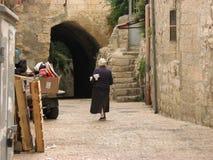 stad gammala jerusalem judisk fjärdedel royaltyfria bilder