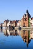 stad gdansk gammala poland Arkivbilder
