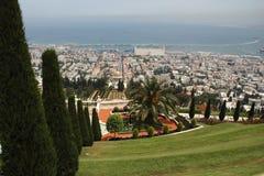 stad haifa Arkivfoto