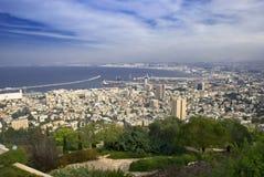 stad haifa israel Arkivfoto