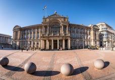 Stad Hall Birmingham England het UK stock afbeeldingen