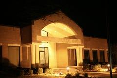 Stad Hall Building på natten Royaltyfri Fotografi