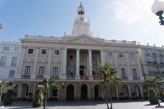 Stad Hall Of Cadiz Andalucia, Spanien arkivfoto