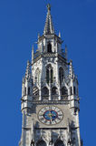 Stad Hall Clock Tower Royalty-vrije Stock Afbeeldingen