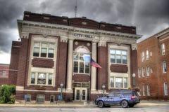 Stad Hall Drama Arkivbild