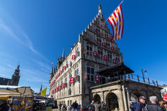 Stad Hall Gouda in Nederland Royalty-vrije Stock Foto's