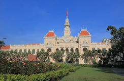 Stad Hall Ho Chi Minh City Saigon Vietnam Fotografering för Bildbyråer