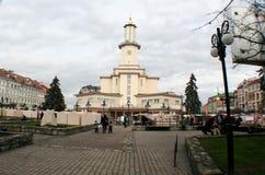 Stad Hall Ivano-Frankivsk Royaltyfria Bilder