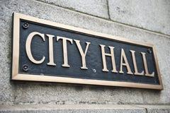 Stad Hall Name Board Stock Fotografie