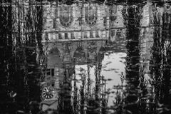 Stad Hall Reflection Royalty-vrije Stock Foto