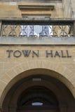 Stad Hall Sign Stock Fotografie