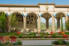 Stad Hall Square i Castiglion Fiorentino Royaltyfri Fotografi