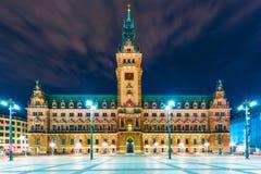 Stad Hall Square i Hamburg, Tyskland Royaltyfri Fotografi