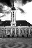 Stad Hall St Pölten als zwart-wit beeld Royalty-vrije Stock Afbeelding
