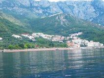 Stad Herceg Novi in Montenegro reis bij het overzees Royalty-vrije Stock Foto