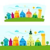 Stad, het boekillustratie van kinderen Royalty-vrije Stock Afbeelding