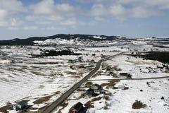 Stad in het Canadese Noordpoolgebied royalty-vrije stock fotografie