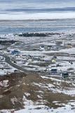 Stad in het Canadese Noordpoolgebied Royalty-vrije Stock Afbeelding
