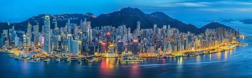 stad Hong Kong Arkivbilder
