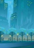 Stad i blue Arkivfoton