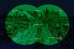 Stad i crosshairs arkivbilder