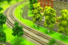 Stad i miniatyr fotografering för bildbyråer