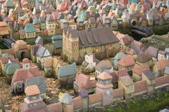 Stad i miniatyr - den hal medeltida orienteringen av Koenigsberg först Arkivbild