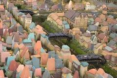 Stad i miniatyr - den hal medeltida orienteringen av Koenigsberg först Arkivfoton