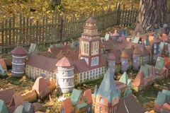 Stad i miniatyr - den hal medeltida orienteringen av Koenigsberg först Royaltyfria Foton