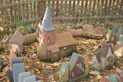 Stad i miniatyr - den hal medeltida orienteringen av Koenigsberg först Royaltyfria Bilder