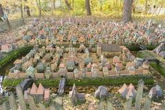 Stad i miniatyr - den hal medeltida orienteringen av Koenigsberg först Arkivbilder