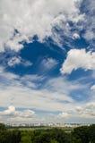 Stad i molnen Royaltyfria Foton