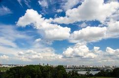 Stad i molnen Royaltyfri Bild