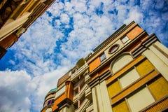 Stad i molnet Fotografering för Bildbyråer